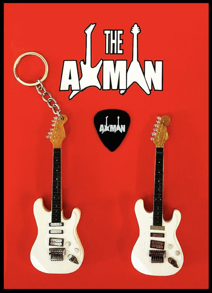 (Iron Maiden) Adrian Smith: Jackson SDX: Keyring & Magnet Variation (UK Seller)